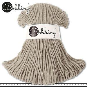 Bobbiny 100 m Flechtkordel 3 mm | Beige | Basteln Baumwolle Hobby PREMIUM
