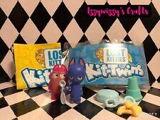 Lost Kitties Kit-Twins Series 2 SIR SPOON & MR SAMMY Cat Figures Accessories New