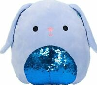 "Squishmallow 12"" Buttons Blue Bunny Flip Sequin Super Soft Plush Pillow Pet"