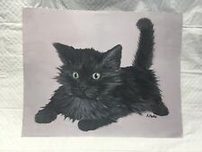 Cat Painting Acrylic On Paper