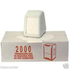 TOVAGLIOLI CARTA 17X17 BAR MONOUSO BIANCO 1 VELO CARTONE DA 10 x 2000 PEZZI
