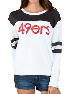 Juniors Junk Food NFL San Franciso 49ers Football Pull Over Fleece Sweatshirt