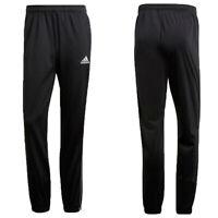Adidas Mens Core 18 Tracksuit Bottom Gym Football Training Pants Black