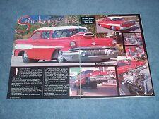 "1957 Pontiac Chieftan 2-Door Sedan Drag Car Article ""Smoking 'Glass"""
