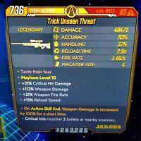 (PS4) Borderlands 3 [Level 65/Mayhem 10] Unseen Threat (100% DMG-ASE)