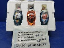Chicago Bears Bradford Exchange metal Ornaments Jay Cutler and Devin Hester