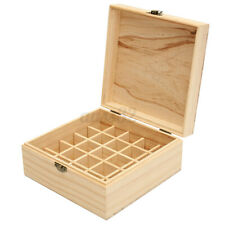 25 Slots Aromatherapy Essential Oil Wooden Storage Boxes Container Holder US /