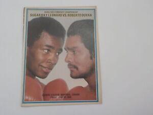 ROBERTO DURAN vs SUGAR RAY LEONARD Boxing Program 1980 Fight Boxers VTG