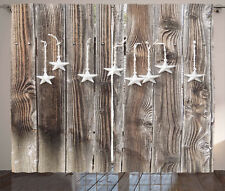Primitive Country Curtains Silver Stars Window Drapes 2 Panel Set 108x90 Inches