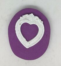 Heart Frame silicone mould ( Cupcake topper.vintage.chic.photo.dolls House.