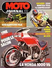 MOTO JOURNAL  616 Test HONDA VT 500 E KAWASAKI KLR 600 MONTESA Alcor GP d'été 83