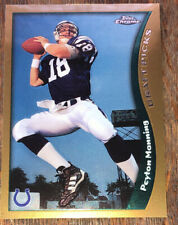 1998 TOPPS CHROME FOOTBALL TRADING CARDS PEYTON MANNING ROOKIE #165 INVEST HOF21