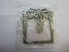 Playboy Bunny Christmas Ornament - Metal hanging bunny symbol could hold picture