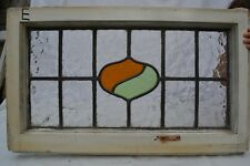 1 art deco leaded light stained glass window panels ABOVE DOOR SIZE. B631e
