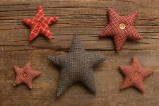 Country new set 5 homespun decor STARS/ nice bowl fillers