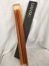 """Set of 11 Vintage DANSK DESIGNS Tiny Taper Candles 15"""" Slide Box Unused #1411"""