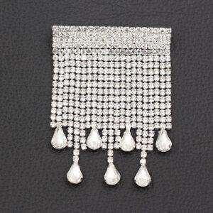 Betsey Johnson Jewellery Women's Crystal Rhinestone Chain Tassels Brooch Pin