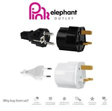 EU Euro Europe European to UK England English Travel Adaptor Plug BS CE Approved