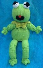 KNITTING PATTERN - Kermit the Frog inspired choc orange cover / 22cms Muppet toy