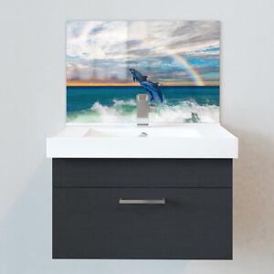 Bathroom Splashbacks - Sink Splashbacks - By Premier Range - Dolphin Rainbow