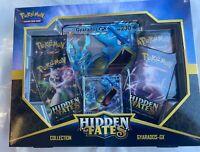 Pokemon Sun Moon 11.5 Hidden Fates Gyarado-GX Box, 4 Hidden Fates Booster Packs
