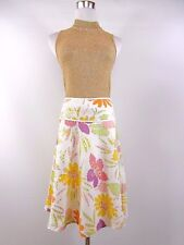 B.YOUNG Women's Designer Floral Summer Cotton Casual Embellish Skirt sz L BI60