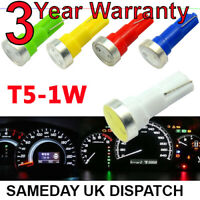 T5 286 LED Bulbs 2 SMD COLOURED 1w Bright Dashboard Instrument Panel Lights 5050