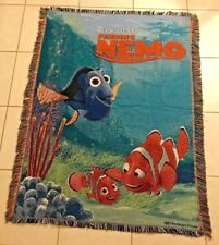 "Disney Pixar Finding Nemo Movie Throw Blanket Bedding 42"" X 58"" NEMO DORY Rare!"