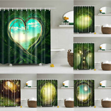 Psychedelic Forest Tree Shower Curtains art Scenery Waterproof Curtain With Hook