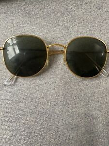 Ray Ban Unisex Gold Round Sunglasses