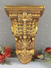 Wandkonsole Barock Hängekonsole Wandregal Konsole Antik Regal Blumen Ablage gold