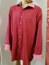 Steven Land Men's Button Down Red Casual Shirt Long  Sleeve Size 20 36/37 Tall