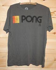 Atari Pong Logo T-Shirt Grey Mens L Vintage Logo Authentic Video Game +