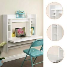 Makeup Wall Mounted Computer W/Storage Shelves Table Floating Dining Desk 💖