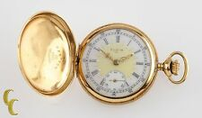 18K Yellow Gold Elgin Antique Mini Hunter Pocket Watch Gr 208 Size 0 7 Jewel