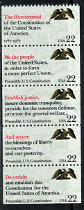 2355 - 2359 * DRAFTING OF THE CONSTITUTION *  U.S. Postage Stamps Strip Of 5 MNH