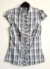 TED BAKER LADIES CHECK SHIRT /BLOUSE SIZE 1 WORN ONCE