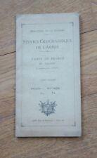 SERVICE GEOGRAPHIQUE DE L'ARMEE CARTE DE FRANCE  1 : 50 000 : MOUTIERS 1931