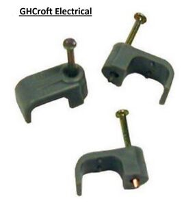 Twin & Earth Cable Clips - Grey 1.5mm, 2.5mm, 4.0mm, 6.0mm  -  MULTI BUY