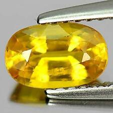 Heating Oval Yellow Loose Natural Sapphires