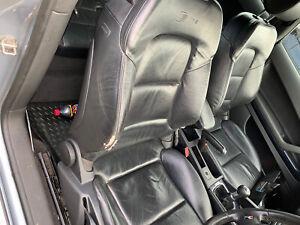 Audi A3 2004 - 2008 8P full black Leather Interior Seats S-Line 3 Door Models