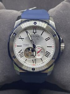 Bulova Men's 45 mm  Marine Star Automatic Watch w/ Silicone Strap #C94