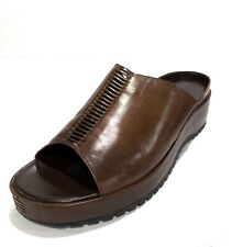 Cole Haan City Brown Leather Wedge/Slide/Sandals. Size 8B