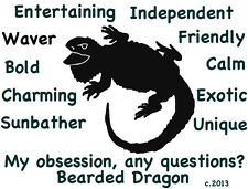 Bearded Dragon My Obsession, Questions? T-shirt Choice size color