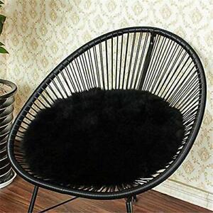 Eanpet Faux Sheepskin Chair Pad 18 x 18 Round Cover Seat Cushion Pad Soft Flu...