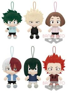 NEW My Hero Academia Sitting Plush Doll Plain Clothes Ver. 6 Type Official Japan