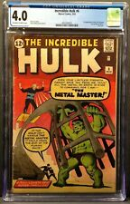 THE INCREDIBLE HULK #6 CGC 4.0 OW/W PAGES 1ST APP TEEN BRIGADE & METAL MASTER