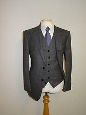 Ede & Ravenscroft-Para Hombre Traje de Tweed gris de 3 Piezas-Largo 40-W34 L36-Nuevo