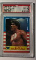 Tito Santana 1987 Topps WWF Wrestling Card #6 PSA 8 NM-MT WWE HOF