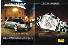 PUBLICITE ADVERTISING 114  2008  BREITLING for BENTLEY  montre chrono ( 2 p)